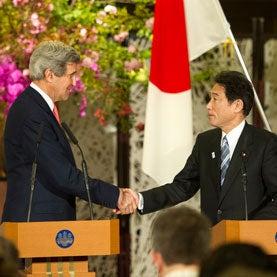 John Kerry and Fumio Kishida