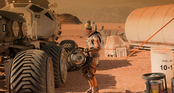 <i>Martian</i> Astronaut Would Get Cancer If Mission Were Real, Author Says