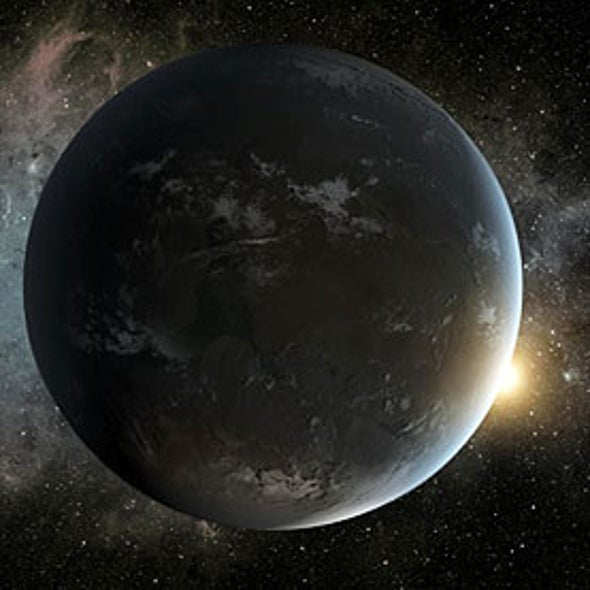 Distant Planet Weighed Using Clues from Starlight