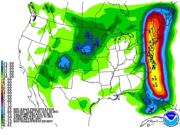 Hurricane Irene Moving in on Carolinas