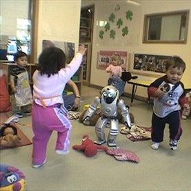 robot with children