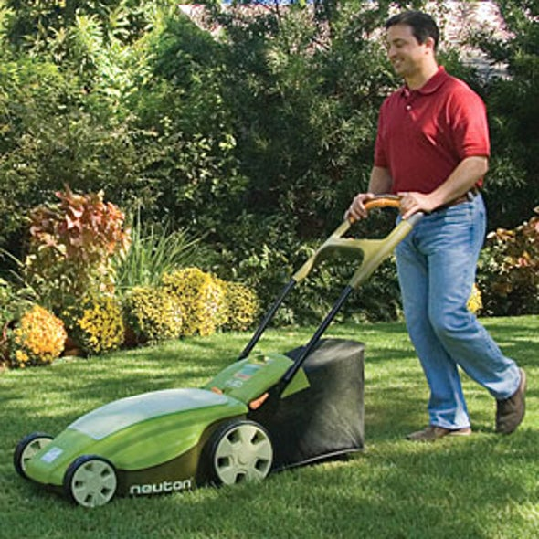 How to Pick A Lawn Mower That's Easy on Man--And Nature