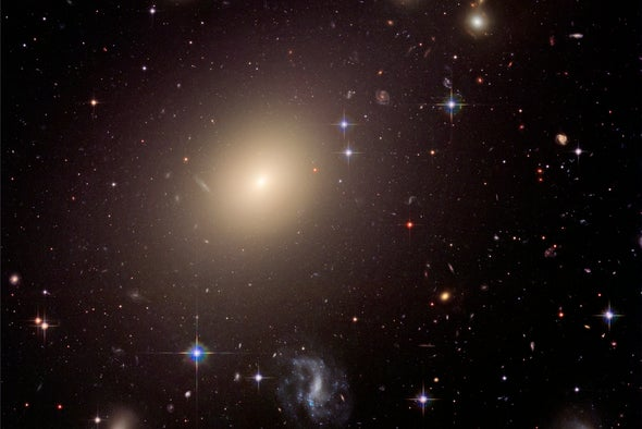 Giant Galaxies from the Universe's Childhood Challenge Cosmic Origin Stories
