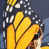 Migrating Monarch mural in Orlando, FL