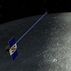 Tandem Satellite Mission Reveals a Thinner Lunar Crust