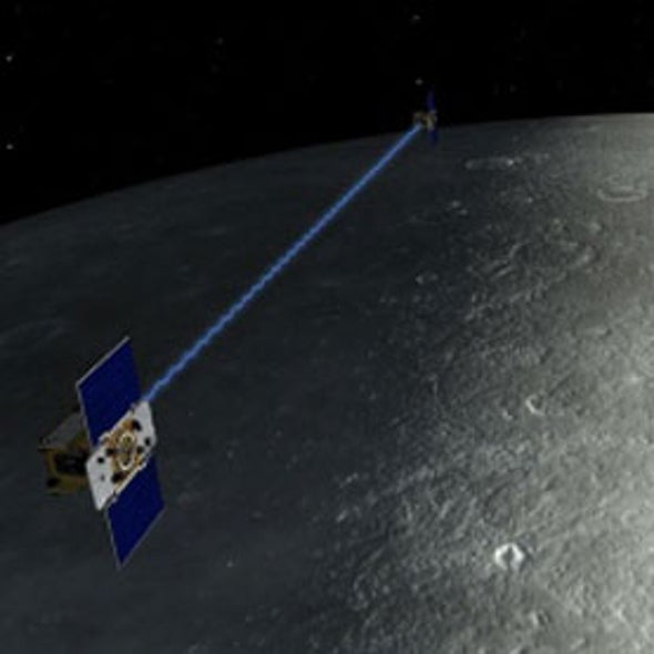 Tandem Satellite Mission Reveals a Thinner Lunar Crust
