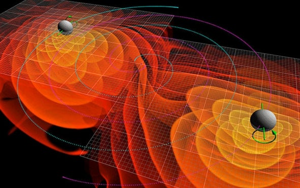 Possible Light Flash from Black Hole Collision Spotted
