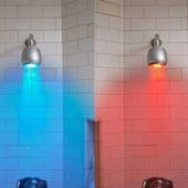 Temperature-Controlled Shower Indicator Light:
