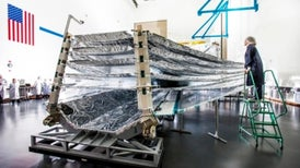 Enormous Sunshield Tested for Space Telescope