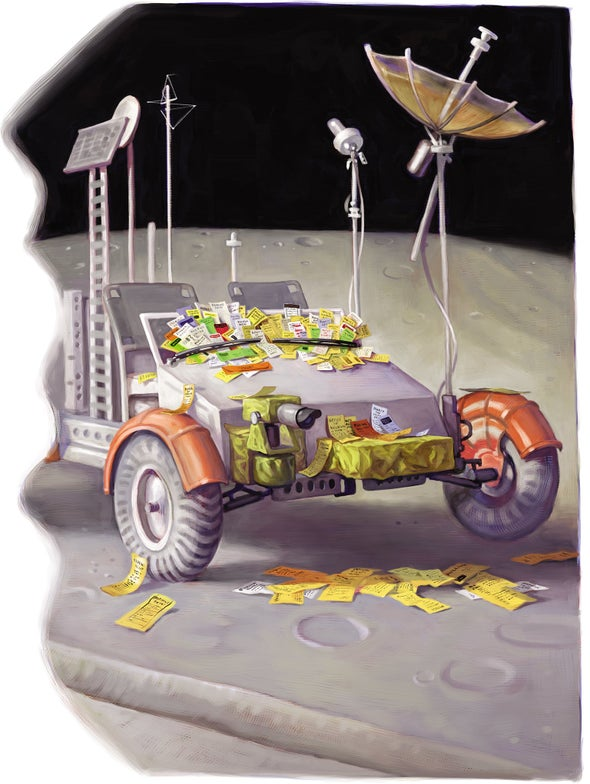 Detritus on the Moon