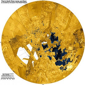 Mosaic of Lakes and Seas Spotted on Saturn's Moon Titan