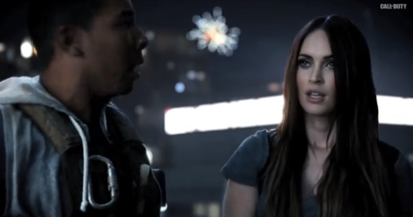 Here's Megan Fox showing her Call of Duty during a 'Hangover'