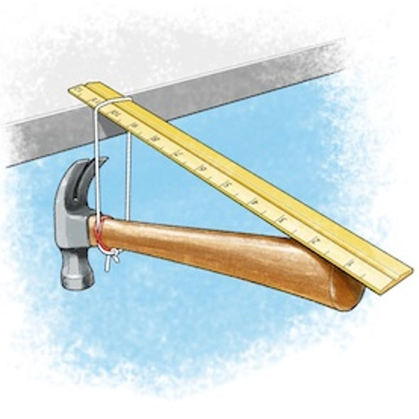 Seesaw Science: The Hammer-Ruler Trick