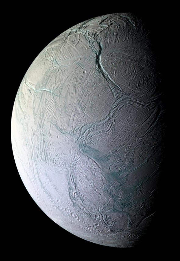 A glimpse of the mysterious Enceladus