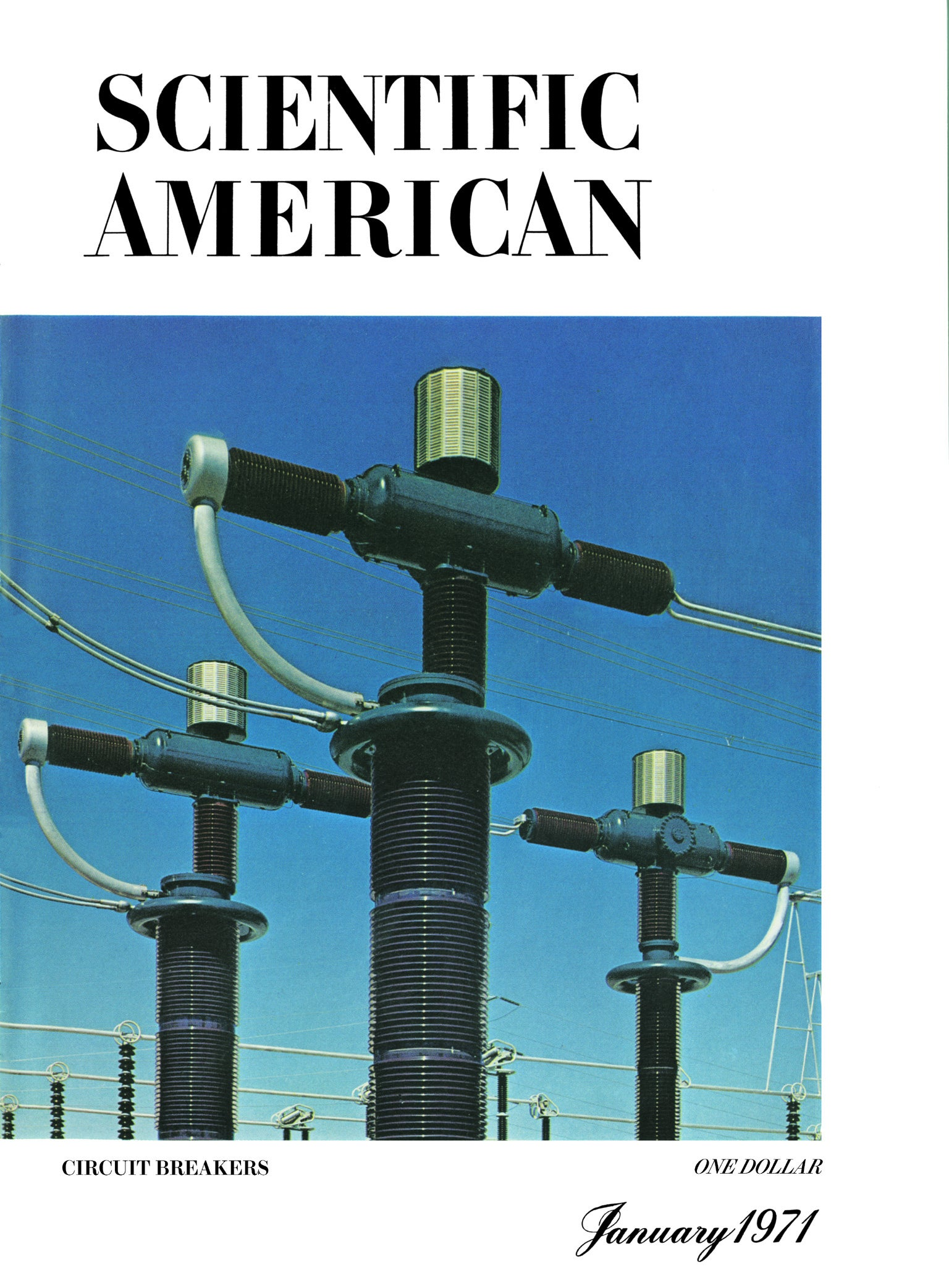 Cover of January, 1971 issue of Scientific American magazine