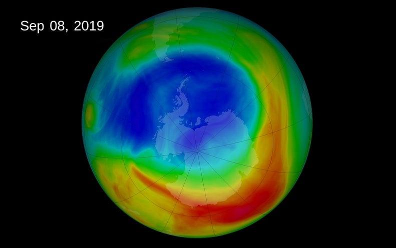 """Shrinking Ozone Hole, Climate Change Are Causing Atmospheric """"Tug of War"""""""