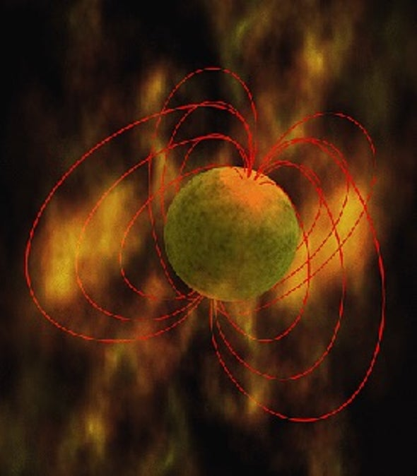 Super-Magnetic Stars Forged in High-Energy Blasts