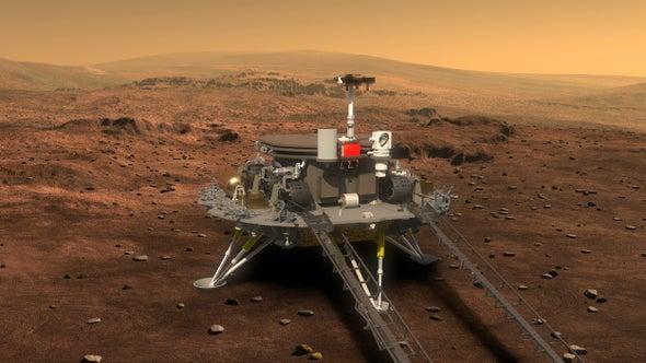 China aterrizó en Marte por primera vez y se suma al lanzamiento el mes pasado de la sección principal de lo que será una estación espacial permanente en la órbita de la Tierra.