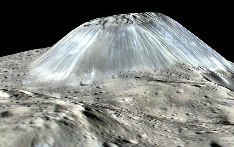 Giant Ice Volcanoes Once Covered Dwarf Planet Ceres - Scientific American