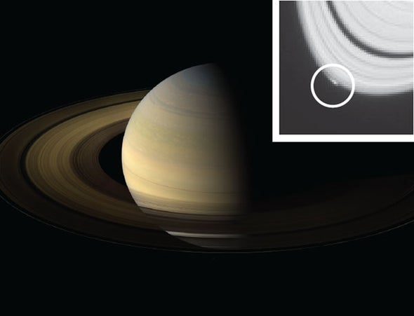 Saturn's Rings Birth a New Moon
