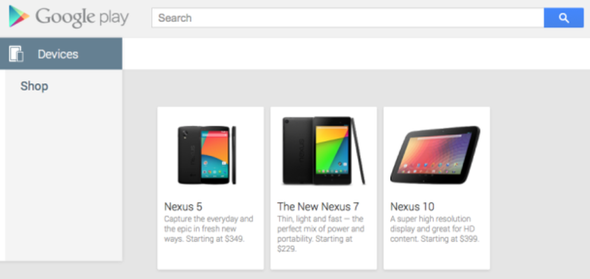 Nexus 5 quietly appears at Google Play for $349