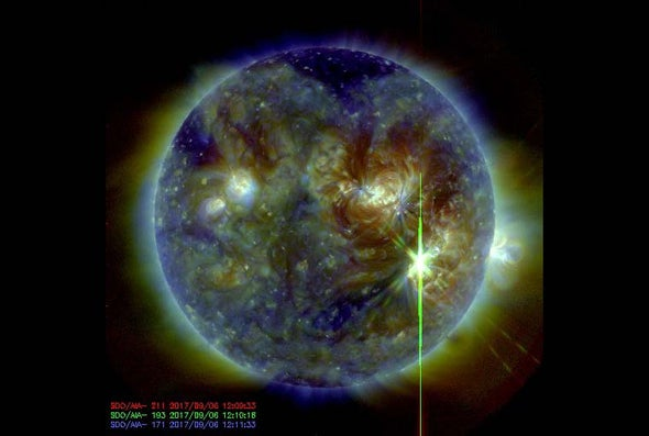 Sun Unleashes Strongest Solar Flare of Past Decade