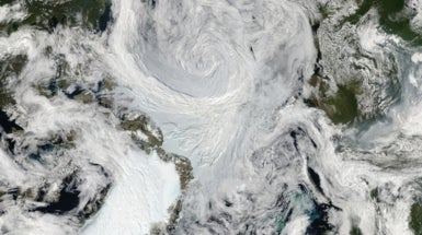 Warming Arctic Spurs Cyclones and Sea Ice Loss