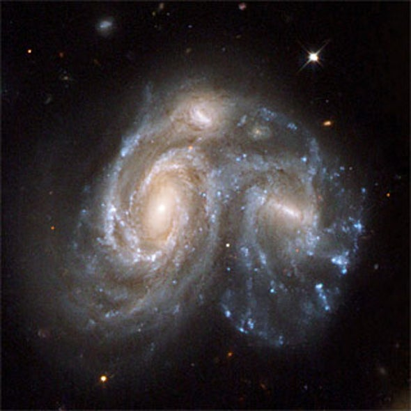 if galaxies are all moving apart, how can they collide? - scientific