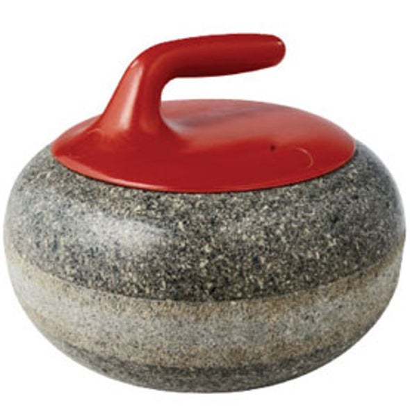 Olympic curling stone