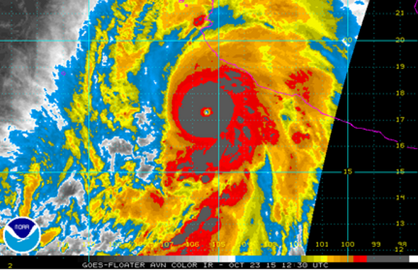 Hurricane Patricia Rapidly Becomes Strongest Storm Ever in Western Hemisphere