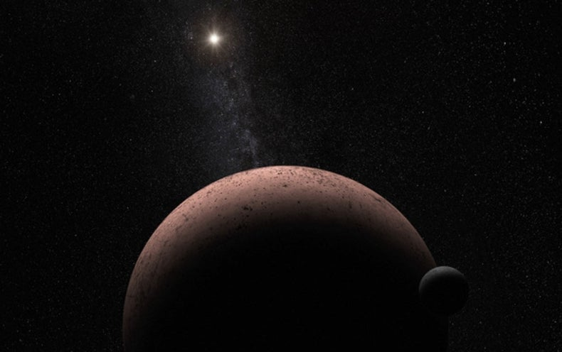 Distant Dwarf Planet Has Its Own Moon
