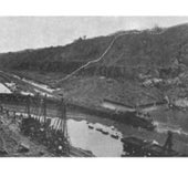 Landslides in the Panama Canal, 1912: