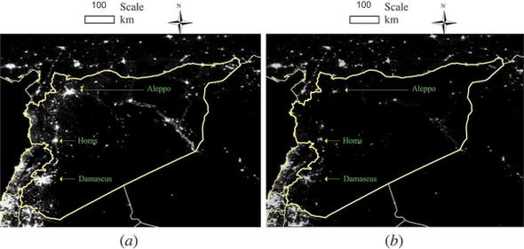 Satellite View of Spreading Darkness in Syria Reveals Worsening Crisis