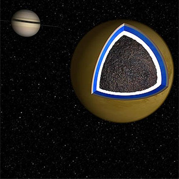 Signs Of Hidden Ocean Underneath Titans Crust Scientific American