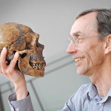 Paabo and Neandertal skull
