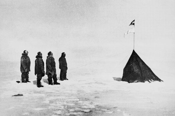 Amundsen Becomes First to Reach South Pole, December 14, 1911