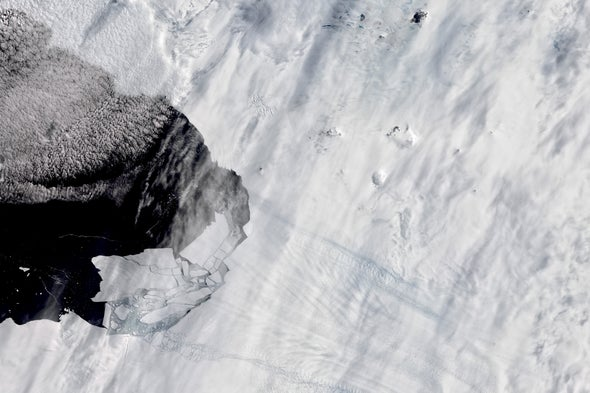 Giant Ice Shelf Crumbling Faster than Expected