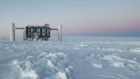 South Pole Experiment Traps Neutrinos from Beyond the Galaxy