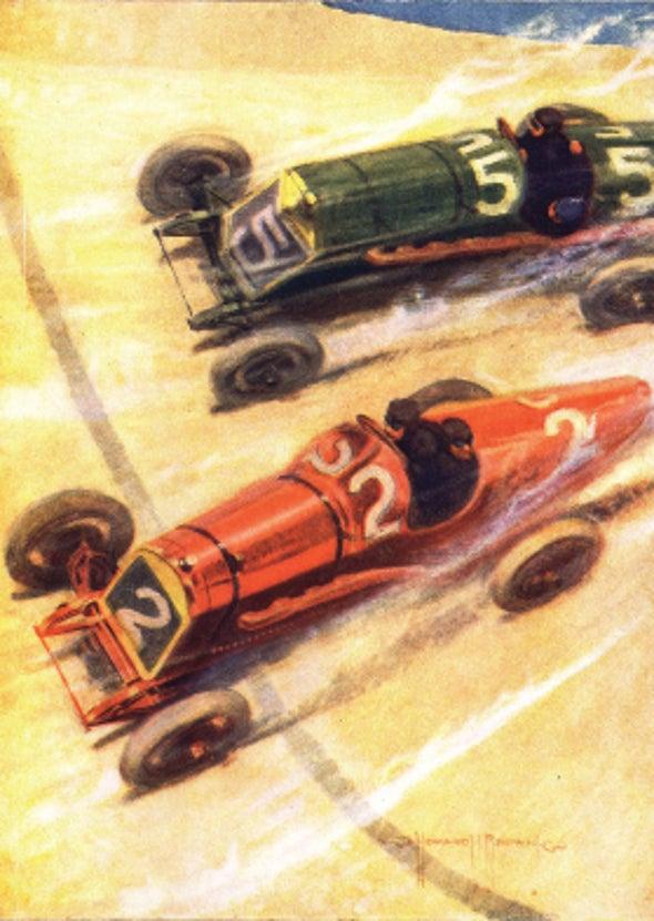 Automobiles Designed for Racing; Roads Built for Automobiles, 1916