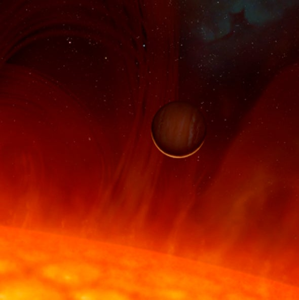 Planet Survived Brush with Red Giant