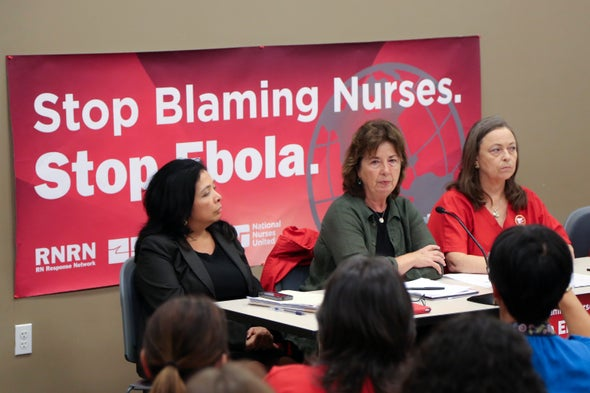 Nurses' Unions Call for Better Ebola Support from CDC