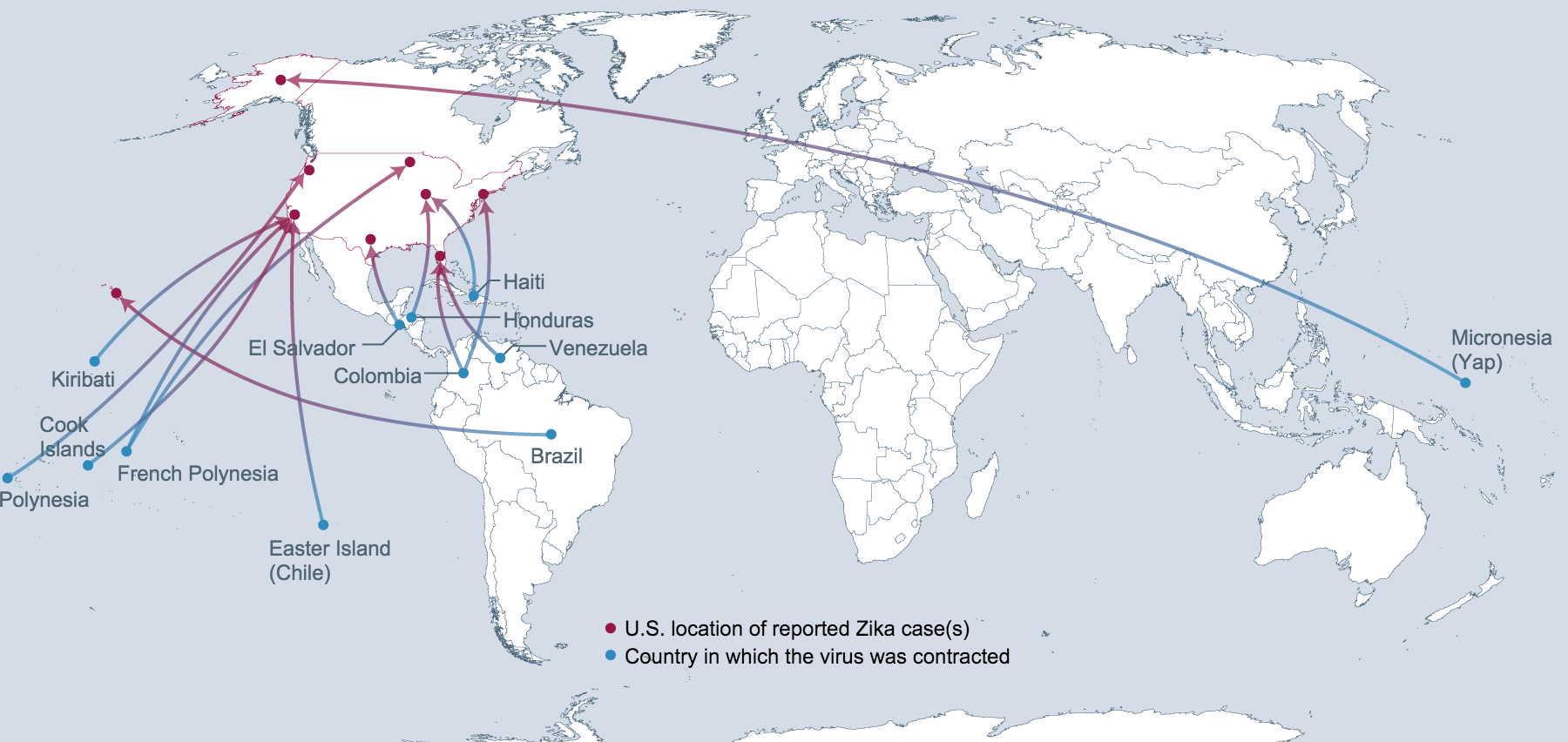 So Far Zika Is Showing Up In The United States Just Where The - Zika virus map us