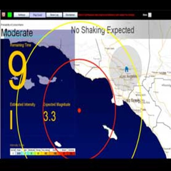 California Closer to Getting Early Warning of Earthquakes