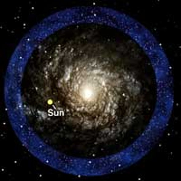 Milky Way Encircled by Stars