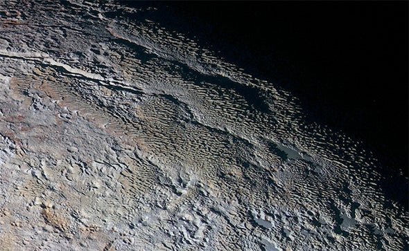 "Planetary Close-Up Reveals Pluto ""Snakeskin"""