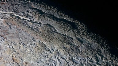 "Planetary Close-Up Reveals Pluto ""Snakeskin"""