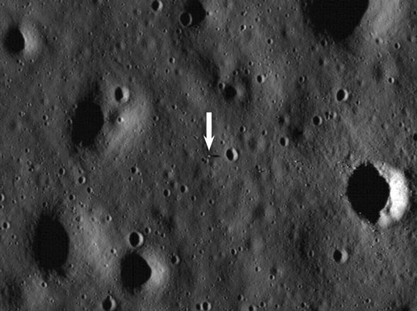 <i>Apollo 11</i> lander spotted by lunar satellite