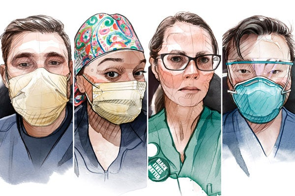 Illustration of health care workers
