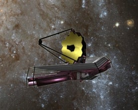 Artist's concept of JWST in space