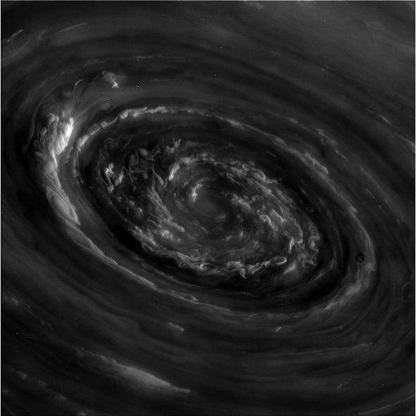 Raging Polar Storm on Saturn Caught by Cassini Spacecraft